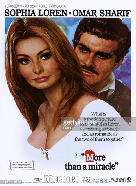 More Than A Miracle poster US poster art from left Sophia Loren Omar Sharif 1967
