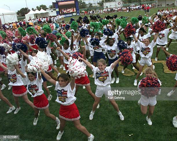 More than a thousand young woemn participated Sunday in a Super Bowl cheerleading clinic at the NFL Experience exhibit The NFL Experience pro...