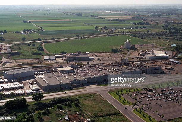 More than eighteen million pounds of ground beef produced by this ConAgra Foods packing house shown in this photo July 21 2002 in Greeley Colorado...