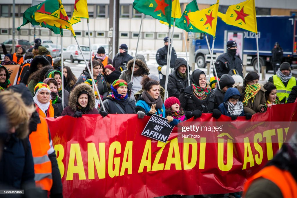 Kurds demonstrate against Afrin offensive in Hannover