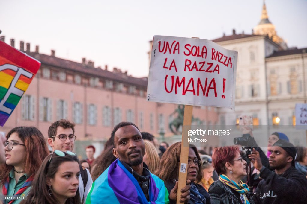 ITA: March Against Racism In Turin