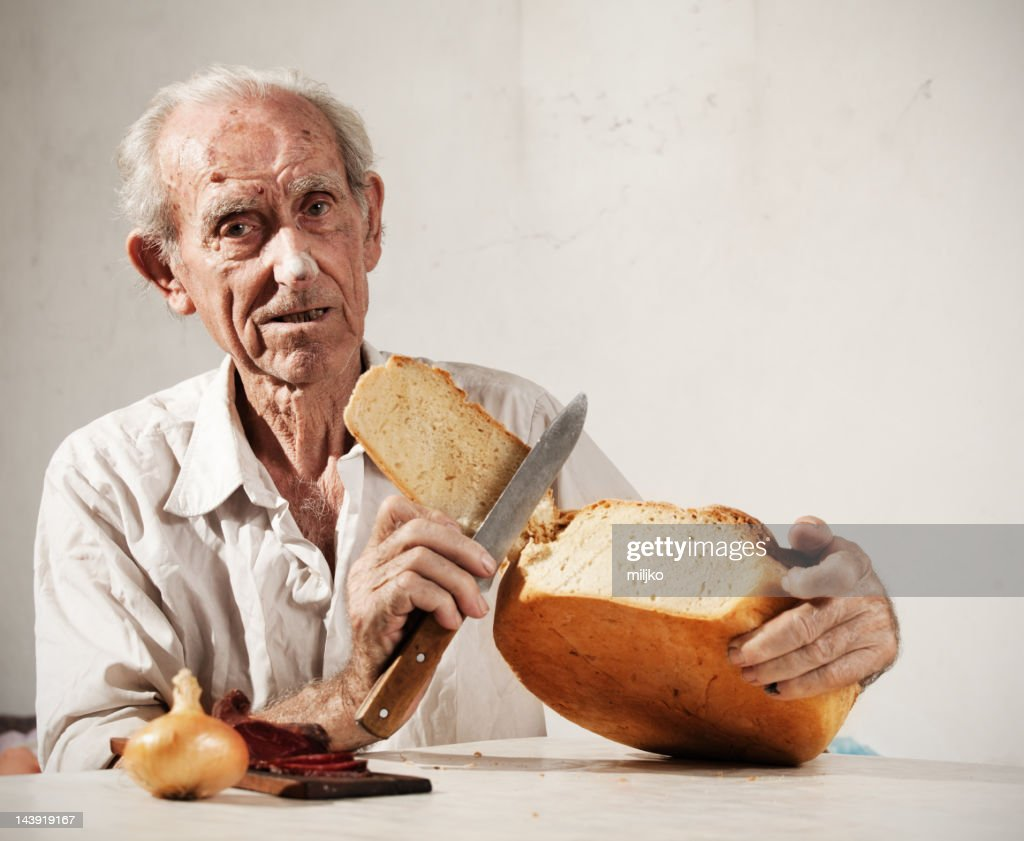 More then 100 years old man : Stock Photo