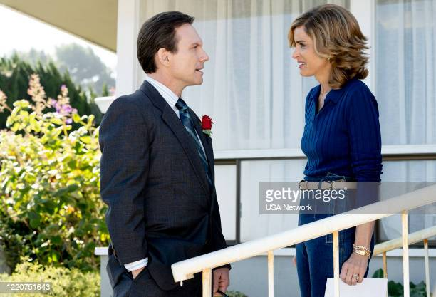 """More To It Than Fun"""" Episode 204 -- Pictured: Christian Slater as Dan Broderick, Amanda Peet as Betty Broderick --"""