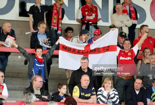 Morecambe fans in the stands