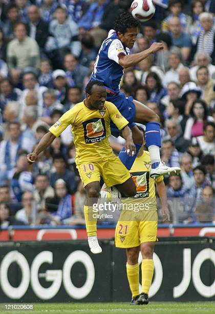 Moreira and Bruno Alves in action during a Portuguese League match between FC Porto and Desportivo das Aves in Porto, Portugal on May 20, 2007.