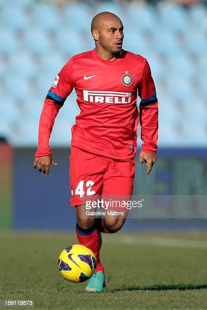 Moreira Jonathan Cicero of FC Internazionale Milano in action during the Serie A match between Udinese Calcio and FC Internazionale Milan at Stadio...