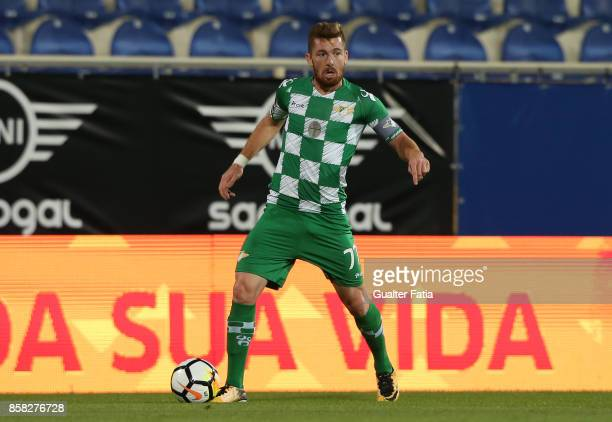 Moreirense FC forward Arsenio from Portugal in action during the Primeira Liga match between GD Estoril Praia and Moreirense FC at Estadio Antonio...