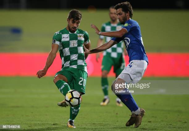 Moreirense FC forward Toze from Portugal with CF Os Belenenses midfielder Filipe Chaby from Portugal in action during the Primeira Liga match between...