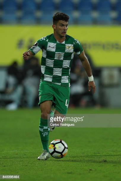 Moreirense FC forward Zizo during the match between GD Estoril Praia and Moreirense FC for the round five of the Portuguese Primeira Liga at Estadio...