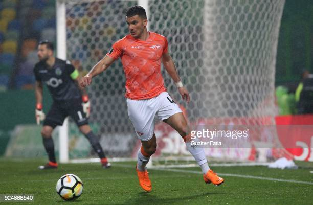 Moreirense FC forward Zizo from Egypt in action during the Primeira Liga match between Sporting CP and Moreirense FC at Estadio Jose Alvalade on...