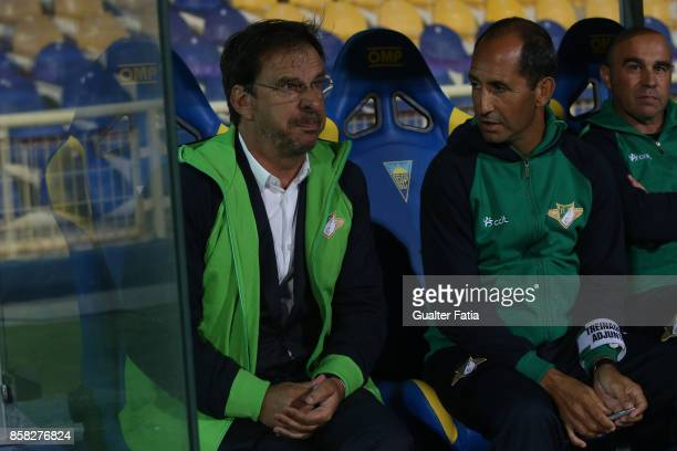 Moreirense FC head coach Manuel Machado from Portugal before the start of the Primeira Liga match between GD Estoril Praia and Moreirense FC at...