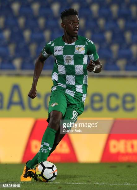 Moreirense FC midfielder Alfa Semedo from Guinea Bissau in action during the Primeira Liga match between GD Estoril Praia and Moreirense FC at...