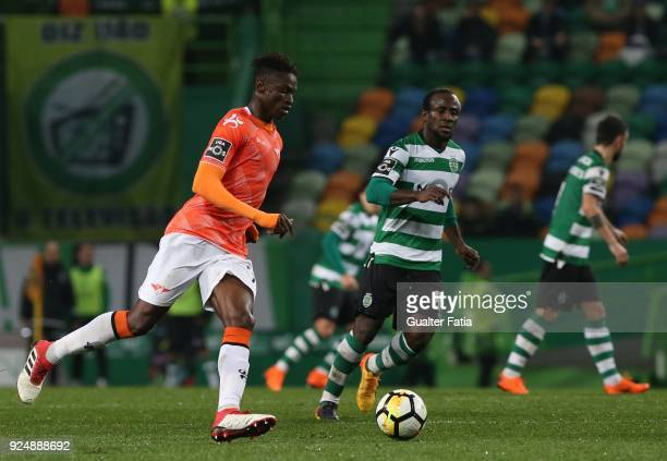 Moreirense FC midfielder Alfa Semedo from Guinea Bissau in action during the Primeira Liga match between Sporting CP and Moreirense FC at Estadio...