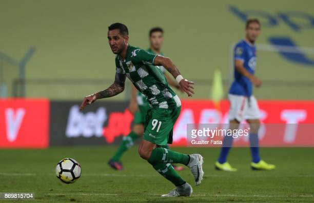 Moreirense FC midfielder Angelo Neto from Brazil in action during the Primeira Liga match between CF Os Belenenses and Moreirense FC at Estadio do...