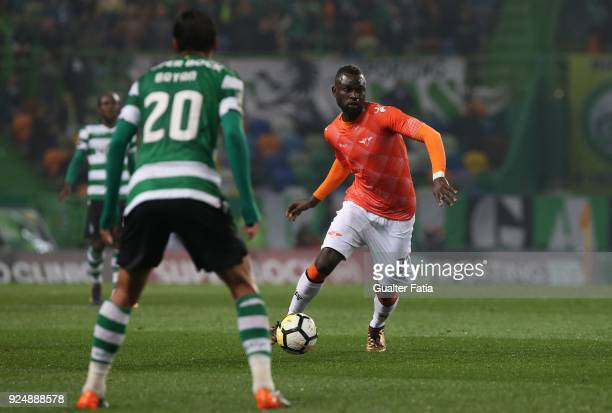 Moreirense FC midfielder Boubacar Fofana from Guinea Conakry in action during the Primeira Liga match between Sporting CP and Moreirense FC at...