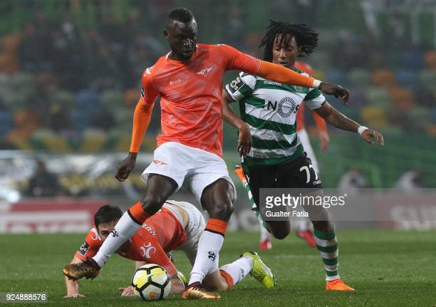 Moreirense FC midfielder Boubacar Fofana from Guinea Conakry with Sporting CP forward Gelson Martins from Portugal in action during the Primeira Liga...