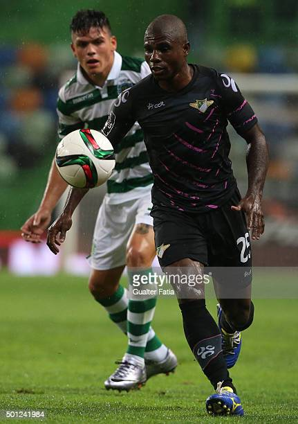 Moreirense FC's forward Luis Carlos in action during the Primeira Liga match between Sporting CP and Moreirense FC at Estadio Jose Alvalade on...