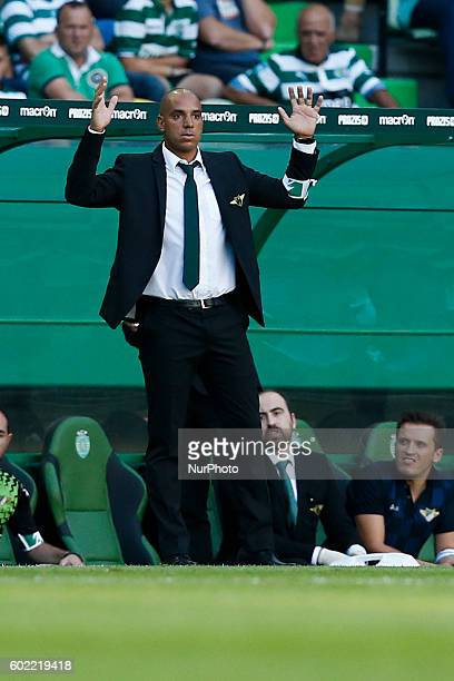 Moreirense's coach Pepa reacts during Premier League 2016/17 match between Sporting CP vs Moreirense FC in Lisbon on September 10 2016