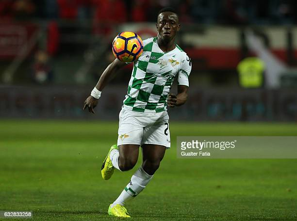 Moreirense's forward Emmanuel Boateng in action during Portuguese League Cup Semi Final match between SL Benfica and Moreirense FC at Estadio Algarve...