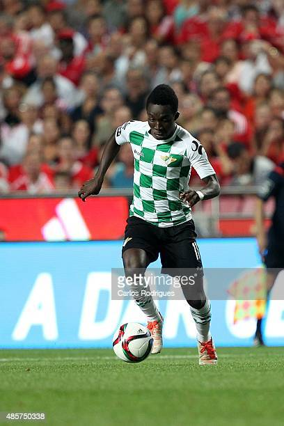 Moreirense's midfielder Ernest Ohemeng during the match between SL Benfica and Moreirense FC at Estadio da Luz on August 29 2015 in Lisbon Portugal