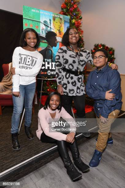 Morela Rina Bryant Mariah Gordon Genisis Hale and Shamon Brown Jr attend an advance screening of Showtime's 'The Chi' on Chicago's South Side at SMG...
