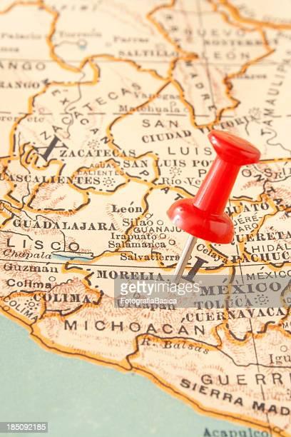 morelia - mexico map stock photos and pictures