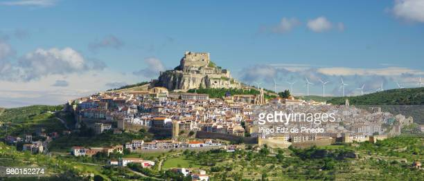 morella, castellón, valencian community, spain. - castellon province stock pictures, royalty-free photos & images