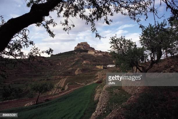 Morella Castellon Panoramic view of Morella with their spectacular location on a hill in the heart of the Sierra del Maestrazgo