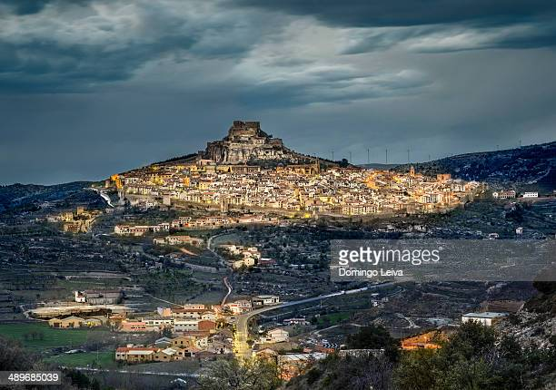 morella in castellon. valencian community. spain - castellon province stock pictures, royalty-free photos & images