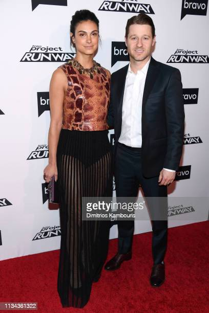 """Morena Baccarin and Ben McKenzie attend Bravo's """"Project Runway"""" New York Premiere at Vandal on March 07, 2019 in New York City."""