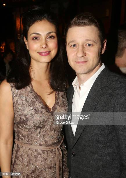 Morena Baccarin and Ben McKenzie pose at the opening night after party for the new Second Stage play Grand Horizons on Broadway at The Ribbon on...