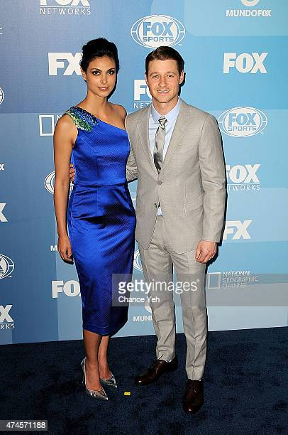 Morena Baccarin and Benjamin McKenzie attend 2015 FOX Programming Presentation at Wollman Rink Central Park on May 11 2015 in New York City