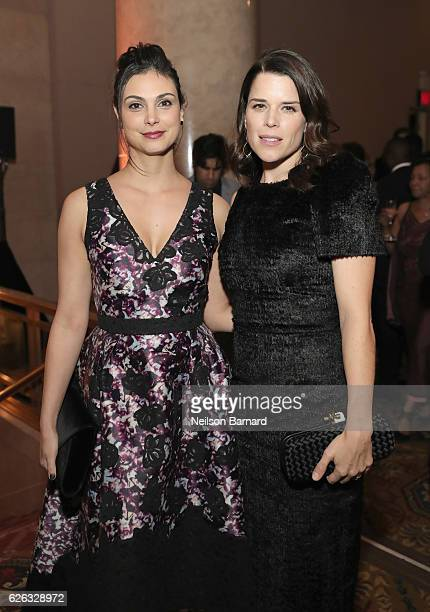 Morena Baccarin and Neve Campbell attend IFP's 26th Annual Gotham Independent Film Awards at Cipriani Wall Street on November 28 2016 in New York City