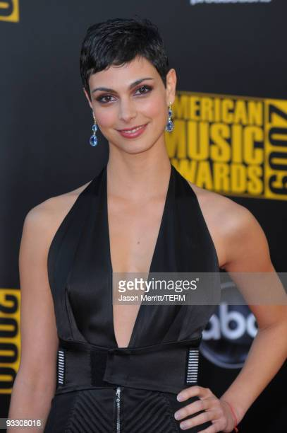 Morena Baccarin arrives at the 2009 American Music Awards at Nokia Theatre LA Live on November 22 2009 in Los Angeles California