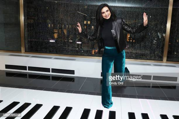 Morena Baccarin attends as FAO Schwarz opens its flagship store at 30 Rockfeller Plaza on November 15, 2018 in New York City.