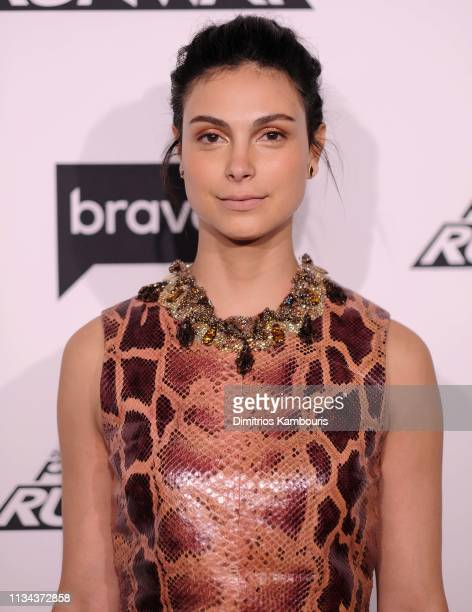 "Morena Baccarin attends Bravo's ""Project Runway"" New York Premiere at Vandal on March 07, 2019 in New York City."