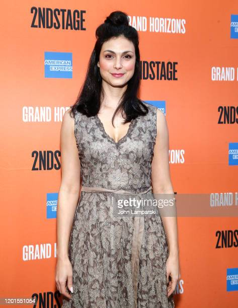 Morena Baccarin attends Grand Horizons Broadway opening night at Hayes Theater on January 23 2020 in New York City