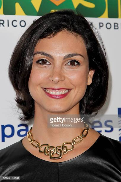 Morena Baccarin attends the 6th annual Hollywood Brazilian Film Festival opening night premiere of 'A Wolf Behind The Door' at The Montalban on...