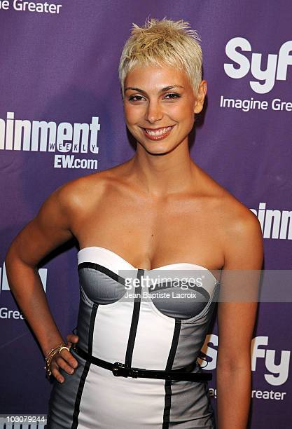 Morena Baccarin attends the EW and SyFy party during ComicCon 2010 at Hotel Solamar on July 24 2010 in San Diego California