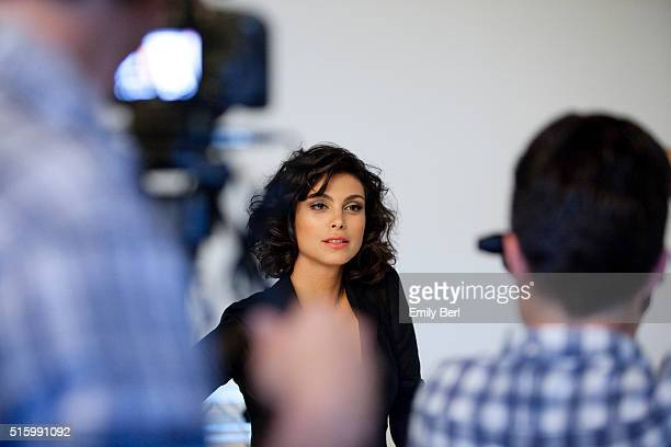 Morena Baccarin is photographed behind the scenes of The Hollywood Reporter's Emmy Supporting Actor Portrait shoot at Siren Orange Studios for The...