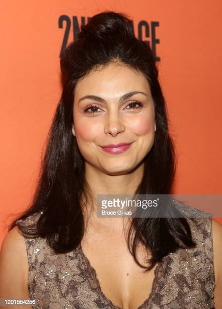 Morena Baccarin poses at the opening night of the new play Grand Horizons on Broadway at The Second Stage Hayes Theater on January 23 2020 in New...