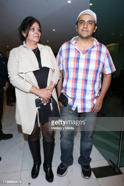 Morena Castro and Italo Castro poses for photos during the funeral of singer actor and television presenter Gualberto Castro on June 28 2019 in...