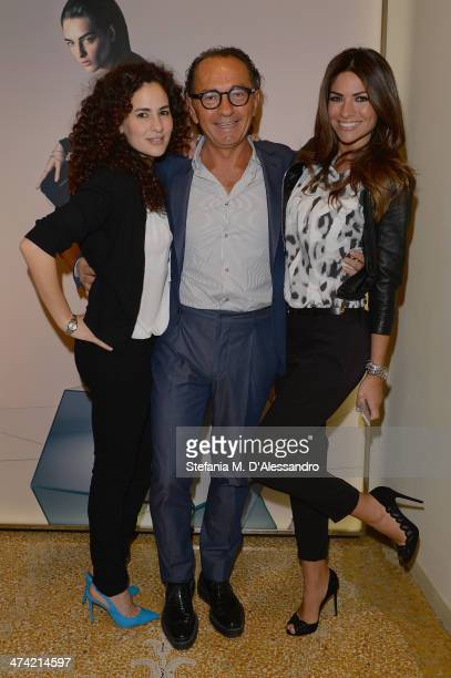 Morena Salvino Enio Silla and Alessia Ventura attend the Le Silla Fall/Winter 201415 Collection Presentation as part of Milan Fashion Week Womenswear...