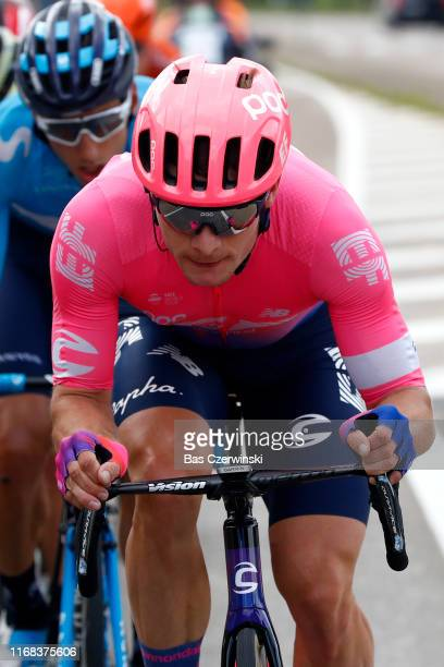 Moreno Hofland of The Netherlands and Team EF Education First / Carlos Verona of Spain and Movistar Team / during the 15th Binck Bank Tour 2019 Stage...