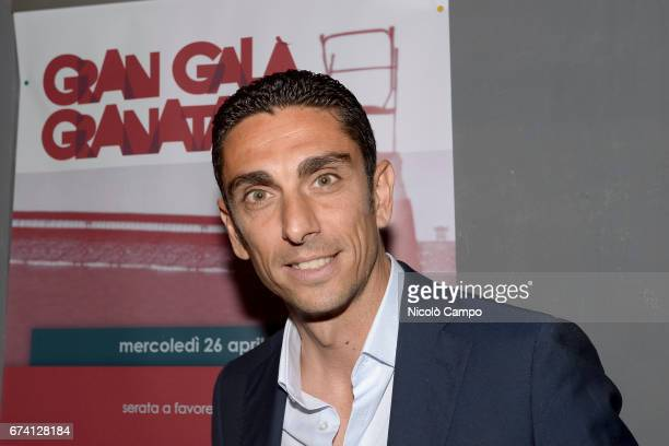 Moreno Longo head coach of FC Pro Vercelli and former player of Torino FC attends the 'Gran Galà Granata' event to celebrate the 25th anniversary of...