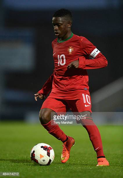 Moreto of Portugal during the Under 17 International match between England U17 and Portugal U17 at Proact Stadium on August 29 2014 in Chesterfield...