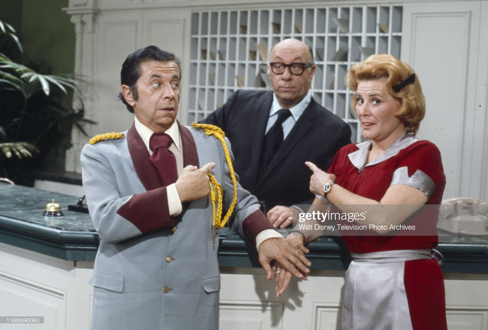 Morey Amsterdam, Richard Deacon, Rose Marie Appearing In 'Honeymoon Suite' : News Photo