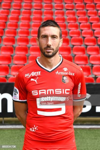Morgan Amalfitano during photoshooting of Stade Rennais for new season 2017/2018 on September 19 2017 in Rennes France