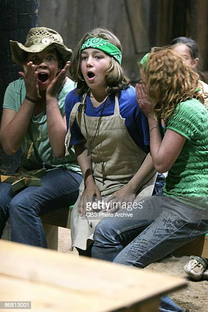 Morgan and Laurel look on with excitement for Sophia as she is awarded one of the final three $50000 Gold Stars on the season finale of KID NATION...