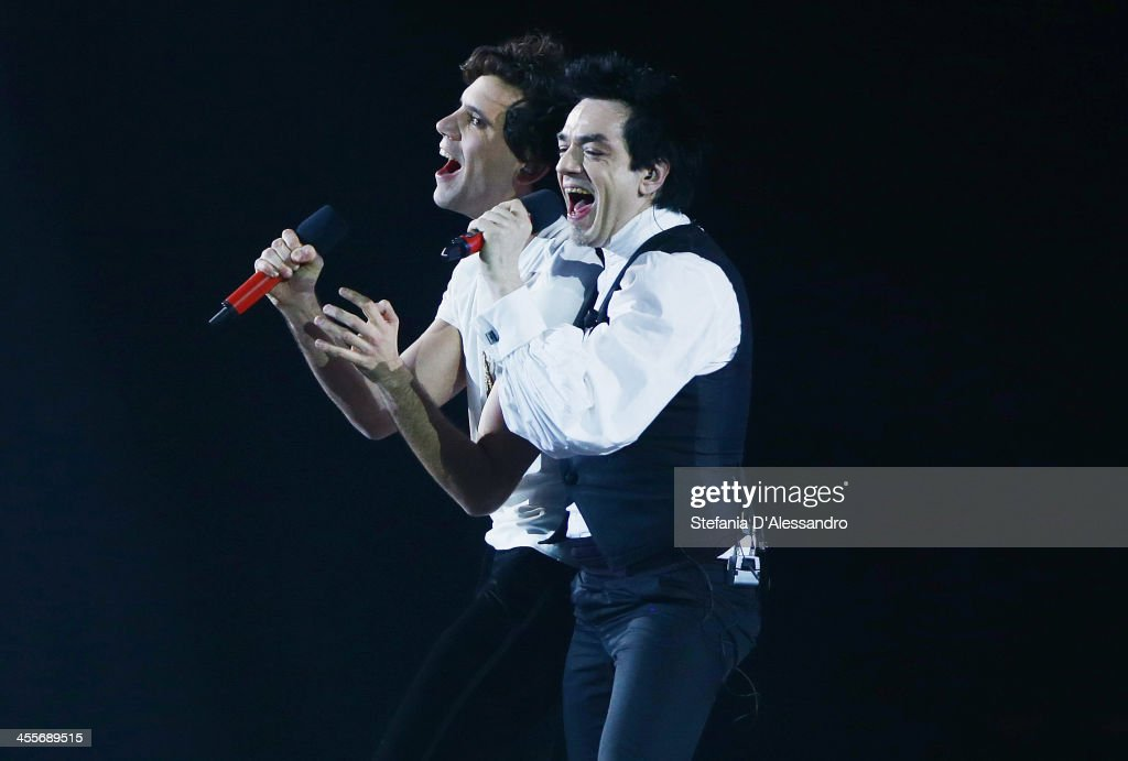 Morgan and Mika perform at ''X Factor'- The Final on December 12, 2013 in Milan, Italy.